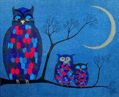 'Eulenfamilie' von Karin Pätzold bei artflakes.com als Poster oder Kunstdruck $16.63