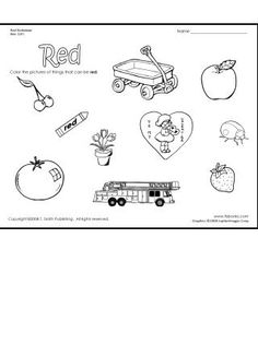 Snapshot image of The Color Red Worksheet