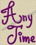 Anytime Alphabet Embroidery Design by 8Clawsandapaw.com