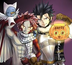 Natsu as Igneel and Gray as Silver, how cute is this!