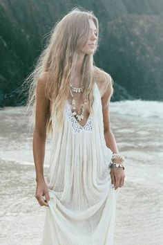 CABO GYPSY | Backless maxi Dress | White Bohemian