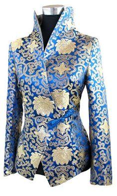 Image result for blue ivory brocade jacket