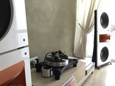 PureAudioProject Trio15 PAP-Horn1 open baffle speakers with VPI Prime turntable