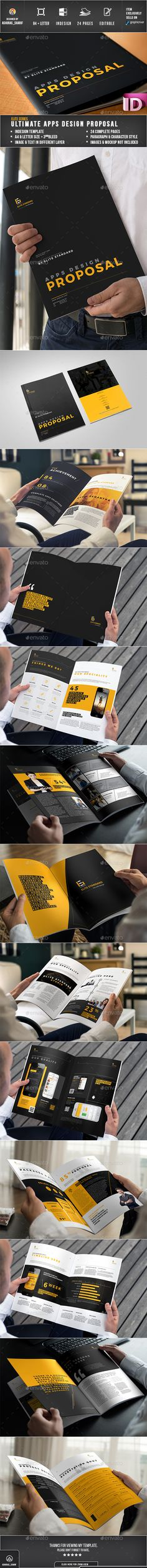 Proposal Template InDesign INDD Download here httpgraphicrivernet