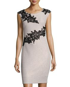 50ccfc7cc22 TVU9U JAX Floral-Appliqué Sheath Dress Applique