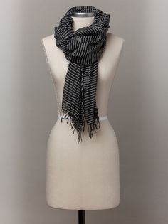 Sisay Striped Scarf by FashionABLE. Hand woven, fair trade $38