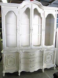 painted china hutch.  My grandmothers china cabinet and dining table and chairs will experience this in the future.