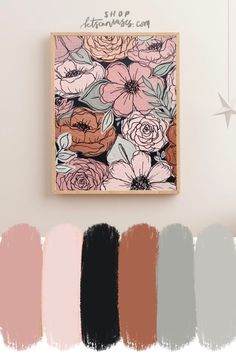 Mar 2020 - Add some joy to your office or home with this pink painted florals art print! Hang it in your favorite spot to enjoy everyday and for years to come! It brightens and personalizes the room as it brings you joy every time you walk in! Small Canvas Art, Diy Canvas Art, Canvas Painting Designs, Knife Painting, Arte Floral, Floral Wall Art, Acrylic Art, Acrylic Painting Flowers, Pink Painting