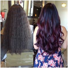 TRANSFORMATION: From PERM To Deep Red Violet | Modern Salon