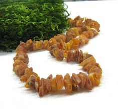 Raw Untreated Amber Necklace Baltic Amber Jewelry by SanaGem