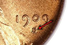 1909-S Over Horizontal S Lincoln Cent