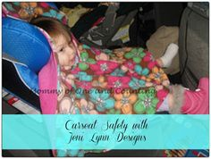 Keep kids safe in their carseats this winter with a carseat poncho from Jeni Lynn Designs.
