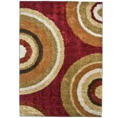 Orian Rugs Eclipse Rouge 6 ft. 7 in. x 9 ft. 8 in. Area Rug  on  Daily Rug Deals