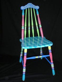 Painted Chairs - nice color mix