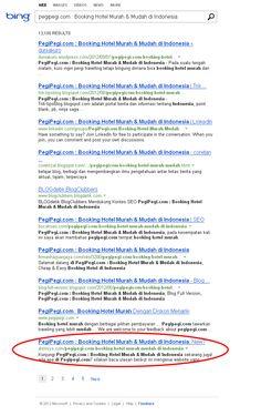 Sekedar Contoh, Bahwa SEO itu Bukan hanya bermanfaat untuk Search Engine Google. Ternyata di BING.com juga Bisa....