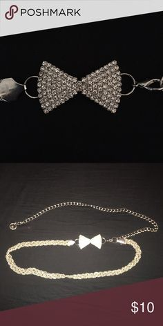 Bedazzled Bow tie Belt Sorry for the bad photos! It's a super cute belt in amazing condition! 100% metal. Worn once. Comment questions! Accessories Belts
