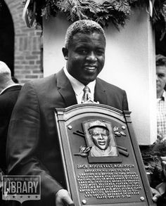 50 Years Ago today Jackie Robinson was inducted into the Baseball Hall of Fame. We congratulate this baseball player turned entreprenur turned advocate when he was diagnosed with  We applaud him for what he gave us and honor his memory with our health. Nationals Baseball, Baseball Players, Mlb Players, American Athletes, Dodgers Fan, Jackie Robinson, Sport Icon, Romance, Sports Figures