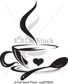 Vector - silhouette of cup coffee lover - stock illustration, royalty free illustrations, stock clip art icon, stock clipart icons, logo, line art, EPS picture, pictures, graphic, graphics, drawing, drawings, vector image, artwork, EPS vector art