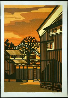 Artwork by Clifton Karhu (1927-2007), an American printmaker, who lived most of his adult life in Japan