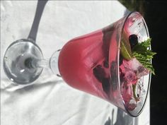 Blueberry Smash - a wonderfully refreshing summer drink - with or without vodka!