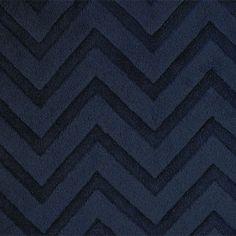 Plush Navy Cuddle Fabric Embossed Chevton