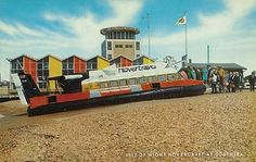 The hovercraft was such an exciting way to get from Southsea to the Isle of Wight - I loved it Portsmouth England, Heritage Railway, Hms Victory, Chichester, Isle Of Wight, Beautiful Places To Visit, Hampshire, Where To Go, Old Photos