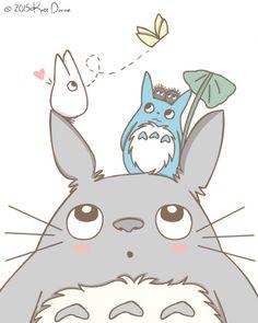 Merchandise Gifts & Products to Totoro Fans. Accessories, T-Shirt, Bag, Plush, totoro slipper Cute Animal Drawings, Kawaii Drawings, Cute Drawings, Art Anime, Anime Chibi, Manga Anime, Totoro Drawing, Totoro Merchandise, Studio Ghibli Art