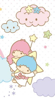 Little Twin Stars ★ Find more Super Cute Kawaii wallpapers for your #iPhone + #Android @prettywallpaper