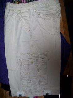 20 Husky W34 L13 Arizona Cargo  Stone Shorts with Tabs  #Arizona #Cargo #20Husky #W34