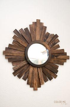 Espejo de sol madera