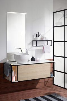 Stylish Modern Bathroom Design - trends in showers floors mirrors & lighting Modern Bathroom Lighting, Modern Light Fixtures, Contemporary Bathrooms, Modern Baths, Rustic Bathroom Designs, Bathroom Design Luxury, Bath Design, Washbasin Design, Design Industrial