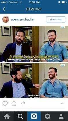 Paul Rudd feels Chris Evans and we feel Ya Paul