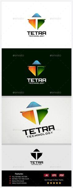 Tetra Technology Logo Template Vetor EPS, AI illustrator #design #logotype Download: http://graphicriver.net/item/tetra-technology-logo/10431020?ref=ksioks