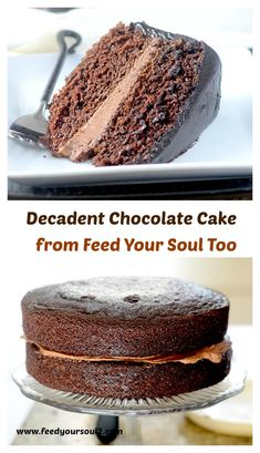 Decadent Chocolate Cake from Feed Your Soul Too