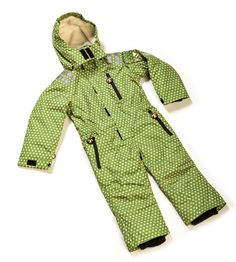 One-piece ski suits for kids on the move! Funky Green SkiSuits coordinate with our Funky Green Mittens, and with other Funky Green DucKsday gear.