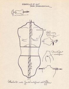 """Richard Teschner, from the 1956 German book """"Richard Teschner und Sein Figurenspiegel"""""""