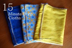 Sunshine and a Summer Breeze: 15 Minute Burp Cloths