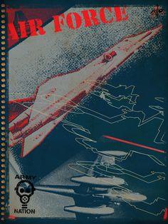 Portada de cuaderno Army Nation / Digital.