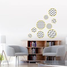 Fun Zigzag Bubbles - Printed Wall Decals Stickers Graphics