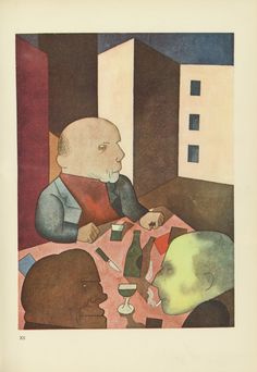 George Grosz Plate XII from Ecce Homo 1922-1923 litograph