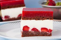 Ciasto truskawkowe na zimno Cheesecake, Baking, Sweet, Food, Kitchen, Random Stuff, Candy, Cooking, Cheesecakes
