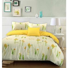 Summer Breeze Floral 100% Cotton Duvet Cover Pillowcases Reversible Bedding Set