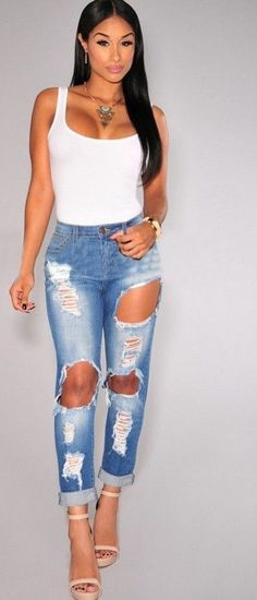 Washed Away Ripped Jeans