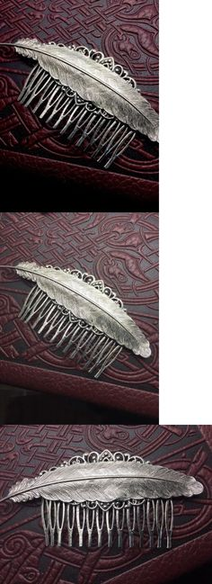Hair Jewelry 164351: Feather Hair Combs Decorative Hair Combs Feather Hair Ornaments Angelina Verbuni -> BUY IT NOW ONLY: $30 on eBay!