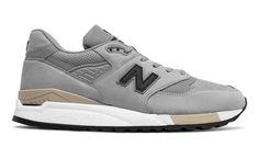 998 Nubuck, Light Grey with Black