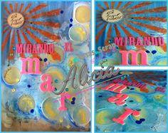 """Página de mi Art Journal """"Mi lugar favorito"""". Si quieres ver el tutorial para realizar paso a paso pincha en la foto"""