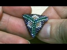 Peyote Stitch triangle: how to make post earrings with Peyote Stitch triangles   Beading Tutorial