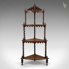 Antique Whatnot, English, Victorian, Rosewood, Display Stand, c.1860