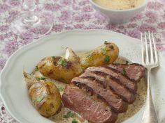 magret de canard, crème liquide, foie gras, cube de bouillon, armagnac