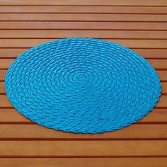 VIEW LARGER  Capri Breeze Round Braided Placemats, Set of 4